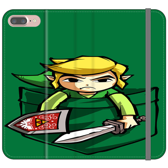 The Legend Of Zelda Pocket Angry iPhone 8 Plus Flip Case | Frostedcase