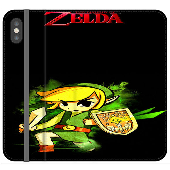 The Legend Of Zelda Link X Emblem Red iPhone XS Flip Case | Frostedcase