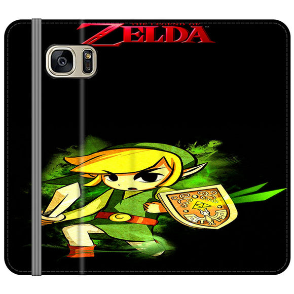 The Legend Of Zelda Link X Emblem Red Samsung Galaxy S7 EDGE Flip Case | Frostedcase