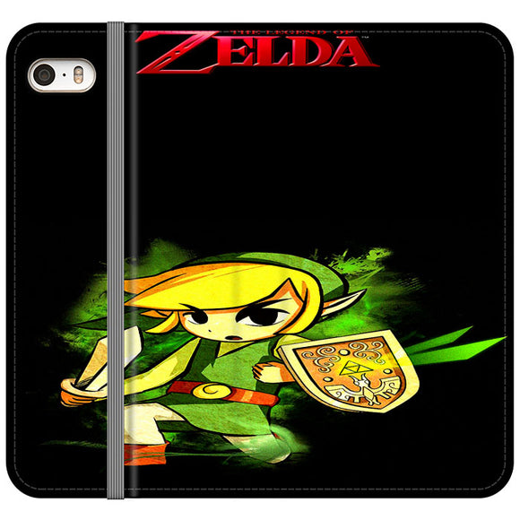 The Legend Of Zelda Link X Emblem Red iPhone 5|5S|SE Flip Case | Frostedcase