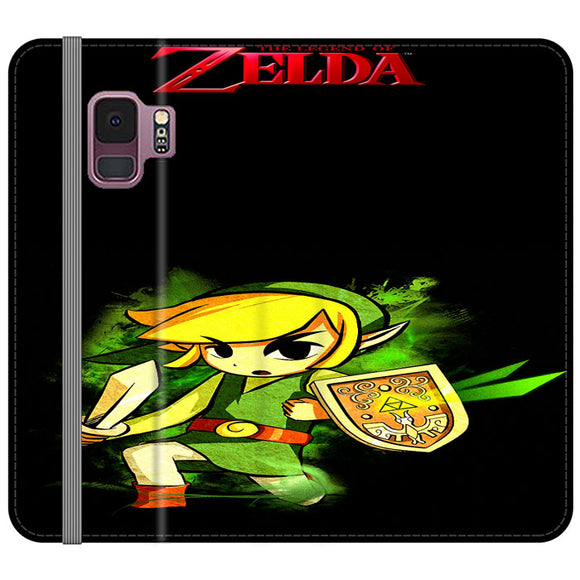 The Legend Of Zelda Link X Emblem Red Samsung Galaxy S9 Flip Case | Frostedcase