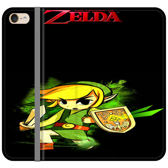 The Legend Of Zelda Link X Emblem Red iPod 6 Flip Case | Frostedcase