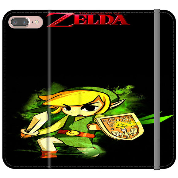 The Legend Of Zelda Link X Emblem Red iPhone 7 Plus Flip Case | Frostedcase