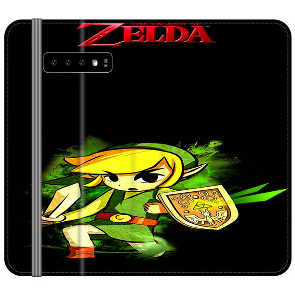 The Legend Of Zelda Link X Emblem Red Samsung Galaxy S10 Plus Flip Case | Frostedcase