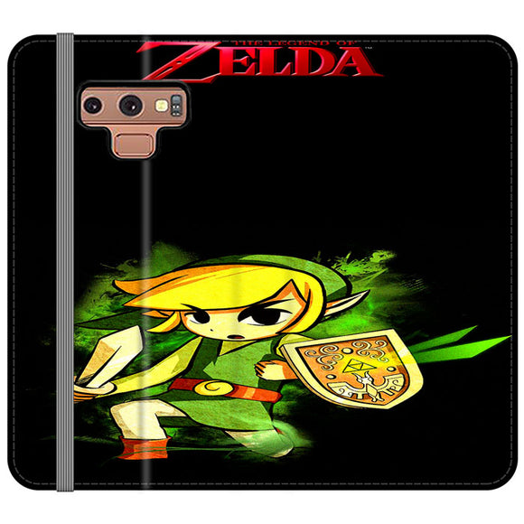 The Legend Of Zelda Link X Emblem Red Samsung Galaxy Note 9 Flip Case | Frostedcase