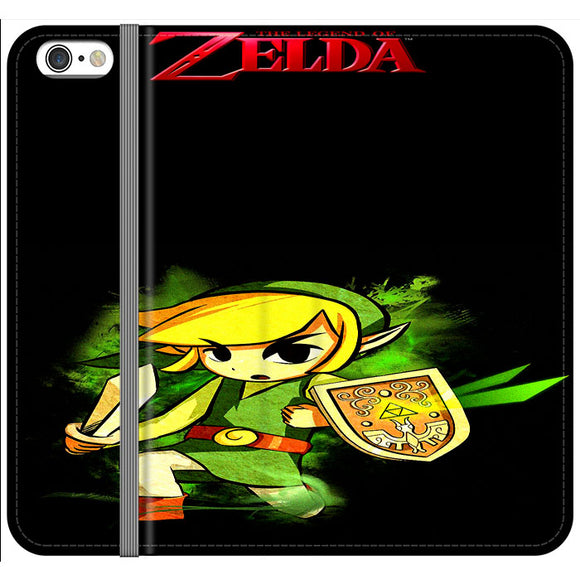 The Legend Of Zelda Link X Emblem Red iPhone 6|6S Flip Case | Frostedcase