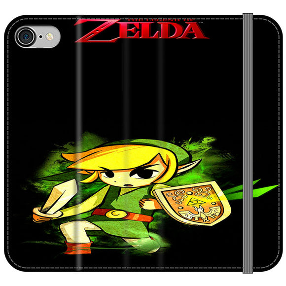 The Legend Of Zelda Link X Emblem Red iPhone 8 Flip Case | Frostedcase
