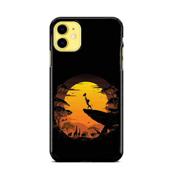 The Lion King Moon Silhouette iPhone 11 Case | Frostedcase