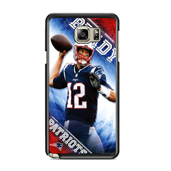 Tom Brady New England Patriots Samsung Galaxy Note 5 Case | Frostedcase