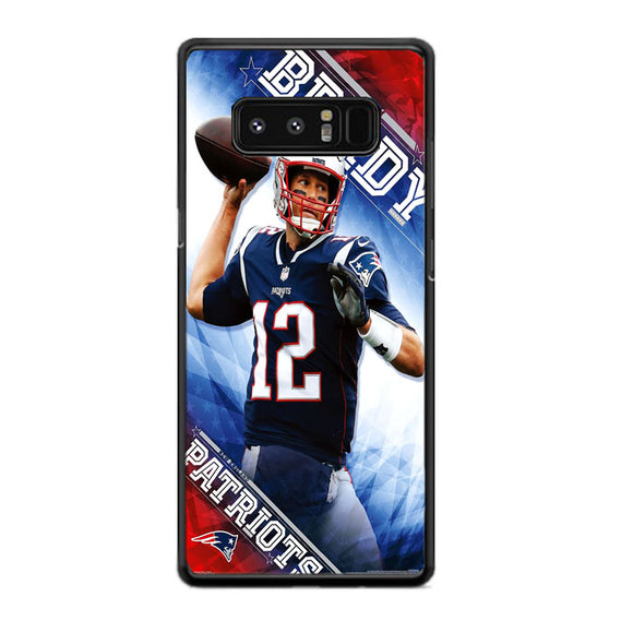 Tom Brady New England Patriots Samsung Galaxy Note 8 Case | Frostedcase