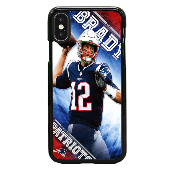 Tom Brady New England Patriots iPhone XS Case | Frostedcase