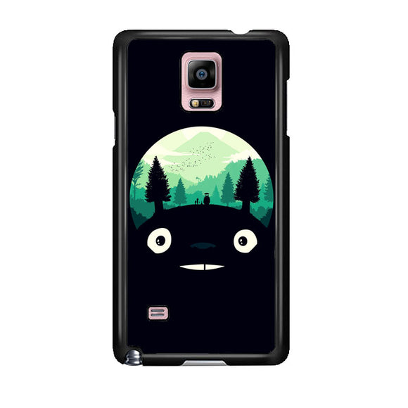Tororo Night Silhouette Forest Samsung Galaxy Note 4 Case | Frostedcase