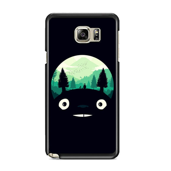 Tororo Night Silhouette Forest Samsung Galaxy Note 5 Case | Frostedcase