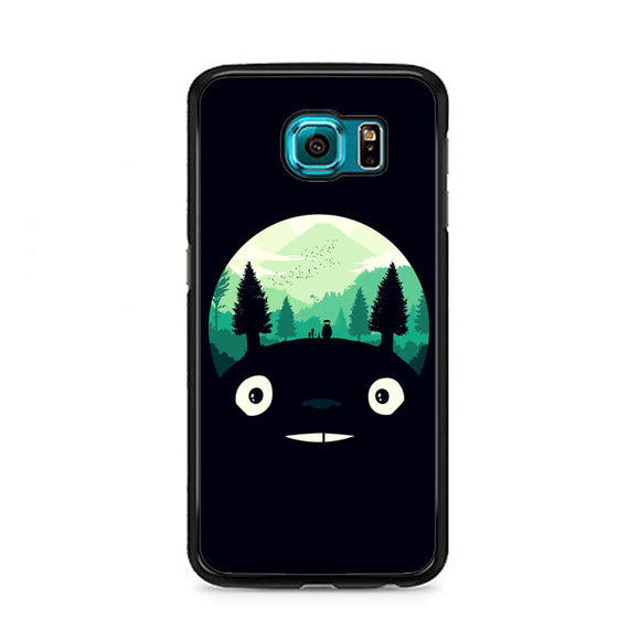 Tororo Night Silhouette Forest Samsung Galaxy S6 Case | Frostedcase