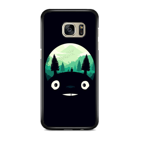 Tororo Night Silhouette Forest Samsung Galaxy S7 EDGE Case | Frostedcase