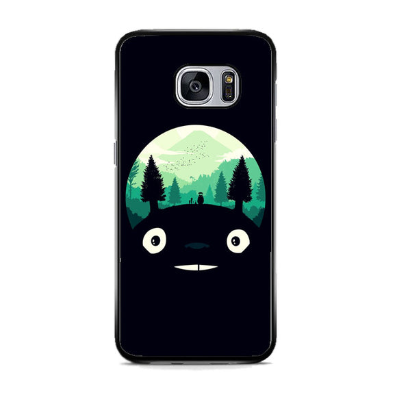 Tororo Night Silhouette Forest Samsung Galaxy S7 Case | Frostedcase