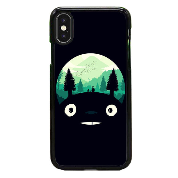 Tororo Night Silhouette Forest iPhone X Case | Frostedcase