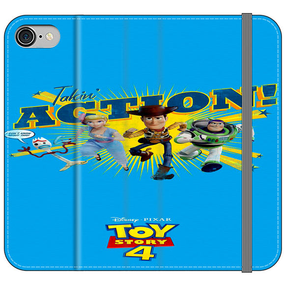 Toy Story 4 Action Takin Blue iPhone 8 Flip Case | Frostedcase