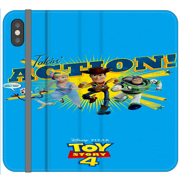 Toy Story 4 Action Takin Blue iPhone XS Flip Case | Frostedcase