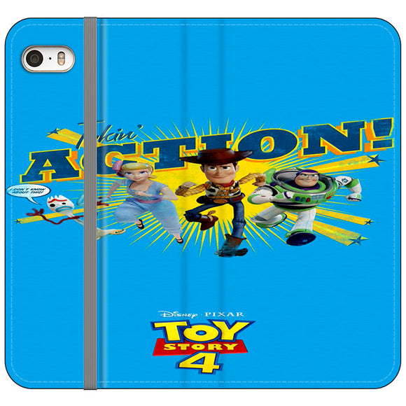 Toy Story 4 Action Takin Blue iPhone 5|5S|SE Flip Case | Frostedcase
