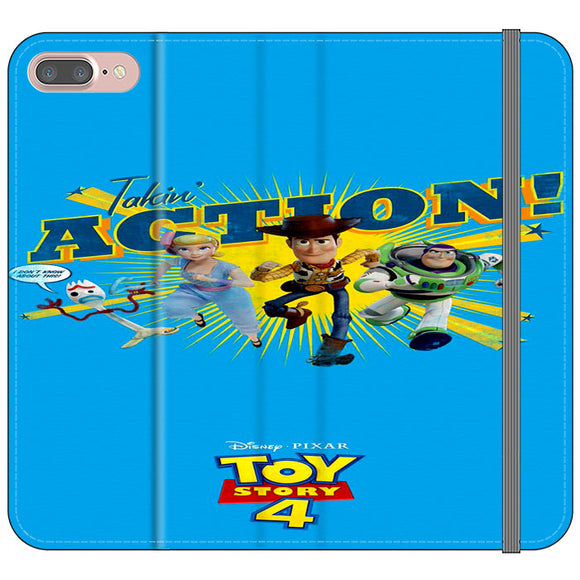 Toy Story 4 Action Takin Blue iPhone 8 Plus Flip Case | Frostedcase
