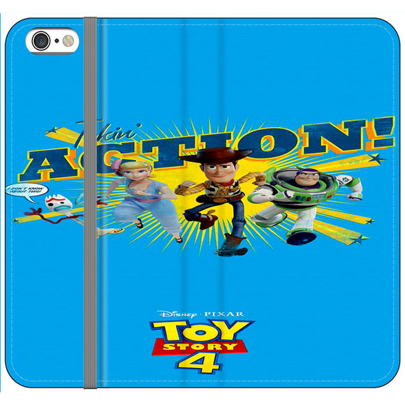 Toy Story 4 Action Takin Blue iPhone 6|6S Flip Case | Frostedcase
