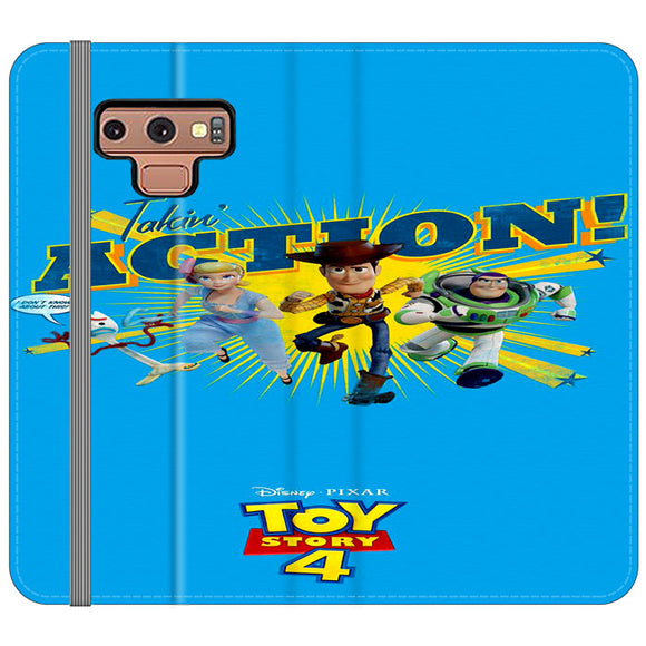 Toy Story 4 Action Takin Blue Samsung Galaxy Note 9 Flip Case | Frostedcase