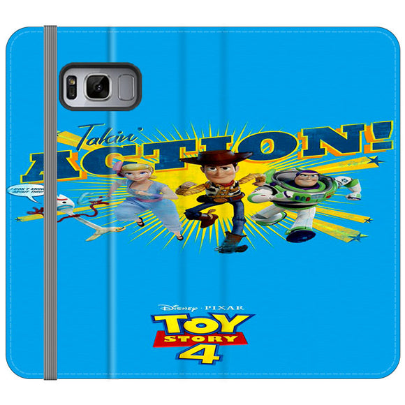 Toy Story 4 Action Takin Blue Samsung Galaxy S8 Flip Case | Frostedcase