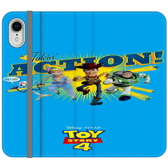 Toy Story 4 Action Takin Blue iPhone XR Flip Case | Frostedcase