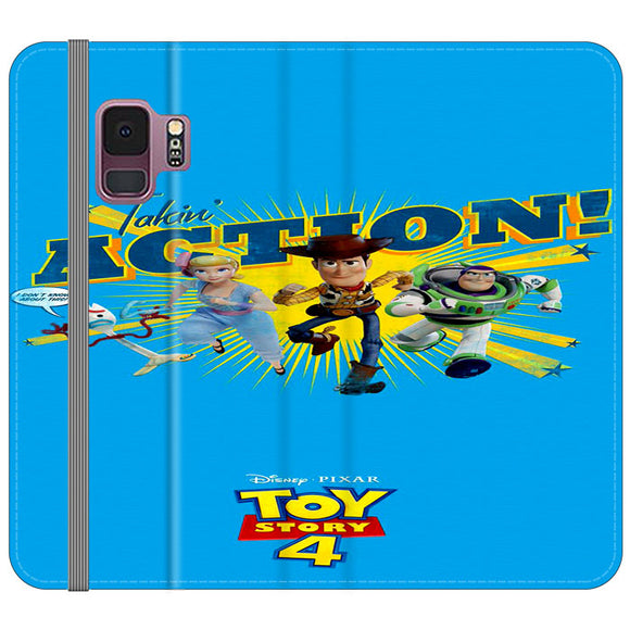 Toy Story 4 Action Takin Blue Samsung Galaxy S9 Flip Case | Frostedcase