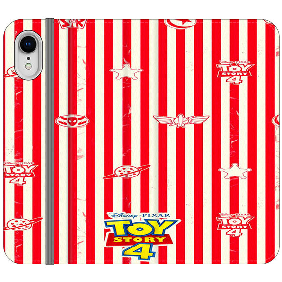 Toy Story 4 Blaster Red White iPhone XR Flip Case | Frostedcase