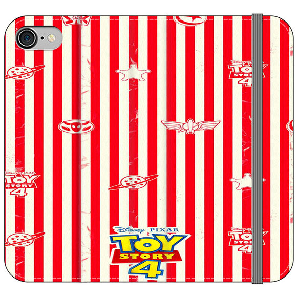 Toy Story 4 Blaster Red White iPhone 8 Flip Case | Frostedcase