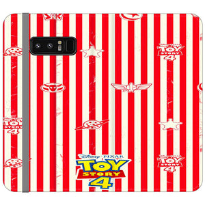 Toy Story 4 Blaster Red White Samsung Galaxy Note 8 Flip Case | Frostedcase
