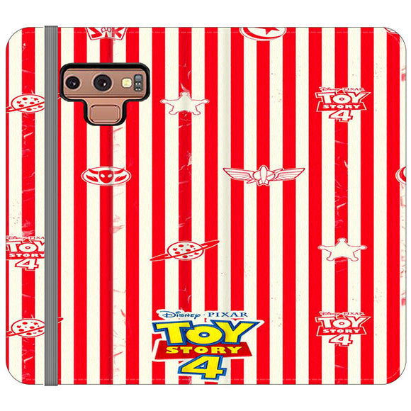 Toy Story 4 Blaster Red White Samsung Galaxy Note 9 Flip Case | Frostedcase
