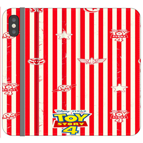 Toy Story 4 Blaster Red White iPhone XS Flip Case | Frostedcase