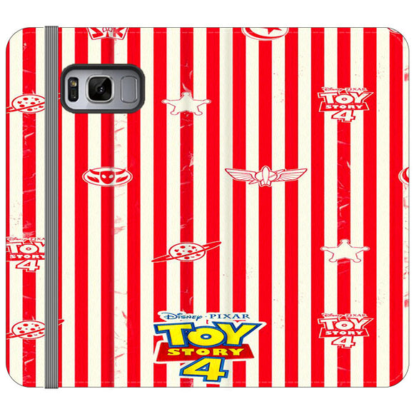 Toy Story 4 Blaster Red White Samsung Galaxy S8 Flip Case | Frostedcase