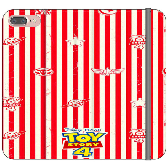 Toy Story 4 Blaster Red White iPhone 7 Plus Flip Case | Frostedcase