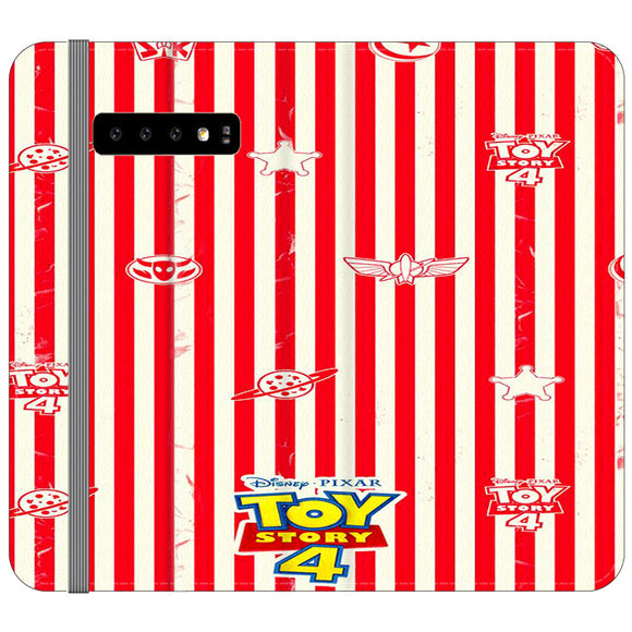 Toy Story 4 Blaster Red White Samsung Galaxy S10 Plus Flip Case | Frostedcase