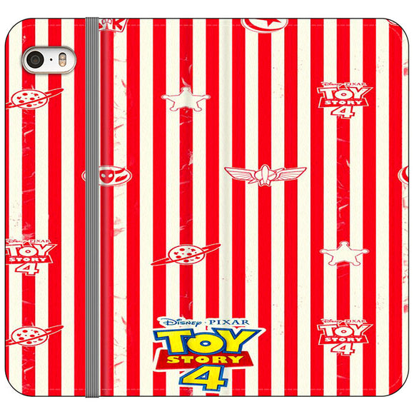 Toy Story 4 Blaster Red White iPhone 5|5S|SE Flip Case | Frostedcase