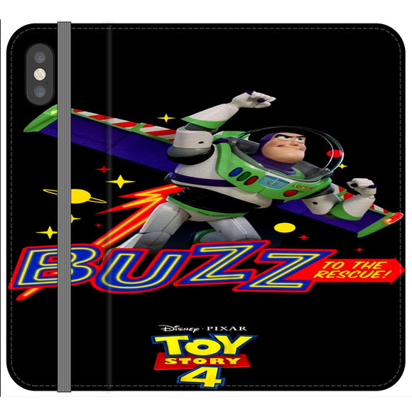 Toy Story 4 Buzz To The Rescue iPhone X Flip Case | Frostedcase