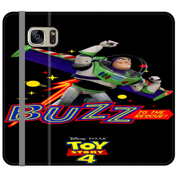 Toy Story 4 Buzz To The Rescue Samsung Galaxy S7 EDGE Flip Case | Frostedcase