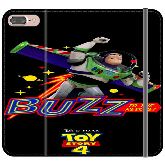 Toy Story 4 Buzz To The Rescue iPhone 8 Plus Flip Case | Frostedcase