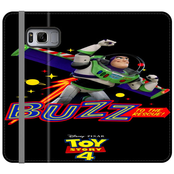 Toy Story 4 Buzz To The Rescue Samsung Galaxy S8 Flip Case | Frostedcase