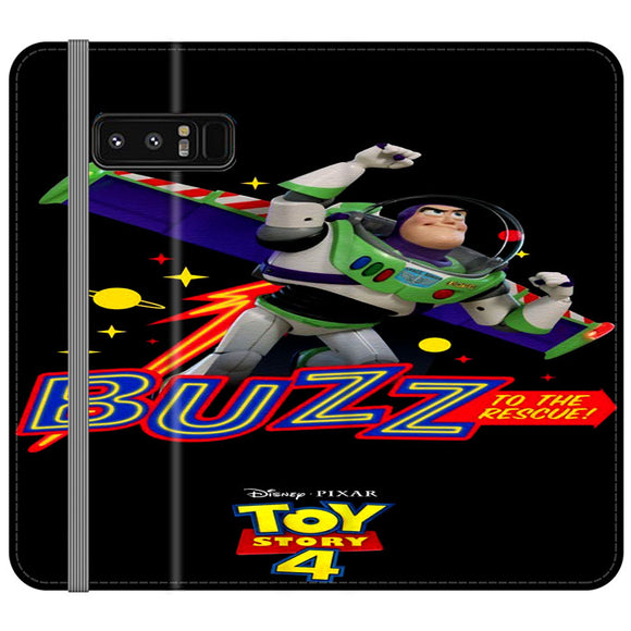Toy Story 4 Buzz To The Rescue Samsung Galaxy Note 8 Flip Case | Frostedcase