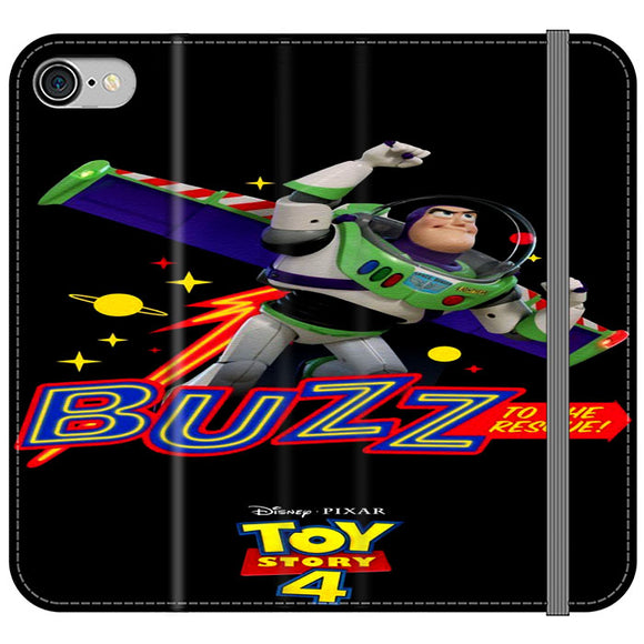 Toy Story 4 Buzz To The Rescue iPhone 8 Flip Case | Frostedcase