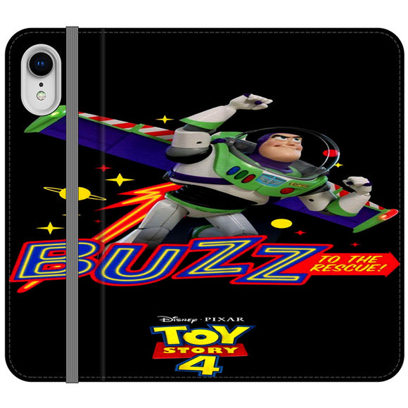 Toy Story 4 Buzz To The Rescue iPhone XR Flip Case | Frostedcase