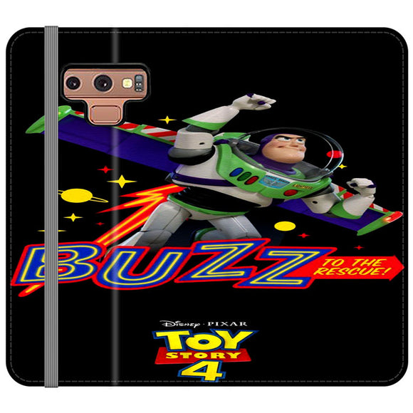 Toy Story 4 Buzz To The Rescue Samsung Galaxy Note 9 Flip Case | Frostedcase