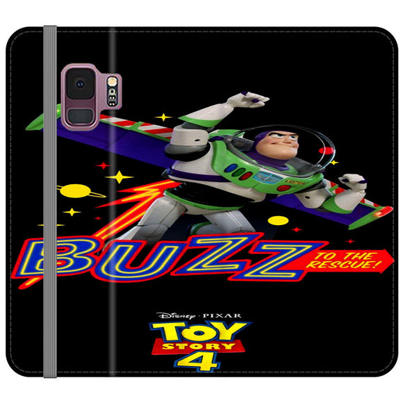 Toy Story 4 Buzz To The Rescue Samsung Galaxy S9 Flip Case | Frostedcase