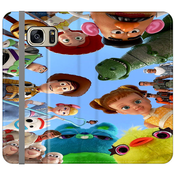 Toy Story 4 Photoshoot With Friends Character Samsung Galaxy S7 EDGE Flip Case | Frostedcase