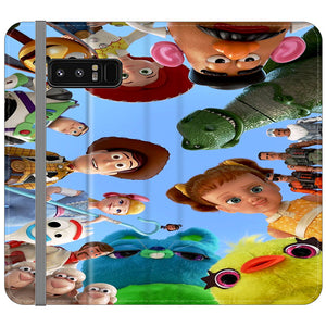 Toy Story 4 Photoshoot With Friends Character Samsung Galaxy Note 8 Flip Case | Frostedcase